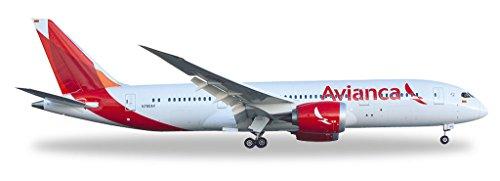 Preisvergleich Produktbild Herpa 528771 - Avianca Boeing 787-8 Dreamliner, Flugzeug, Rot/weiß