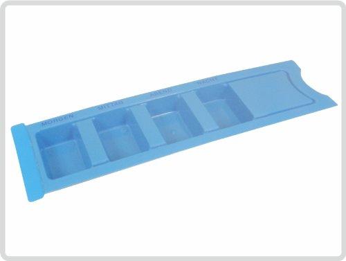 Medikamentendispenser Medikamentendosierer Tablettendose für 1 Tag Farbe:blau *Top-Qualität zum Top-Preis*