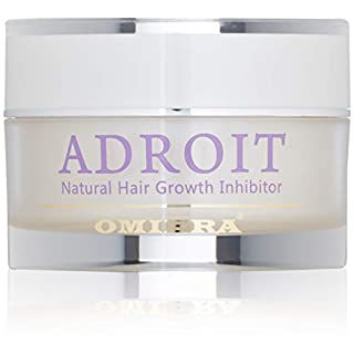 Omiera Adroit Facial Hair Inhibitor Cream for Treatment of Ingrown Hairs & Razor Bumps on Legs, Bikini line, and Face. Use After Shaving, Waxing, & Hair Removal for Women & Men. Slows hair growth and nourishes the skin, 30 grams