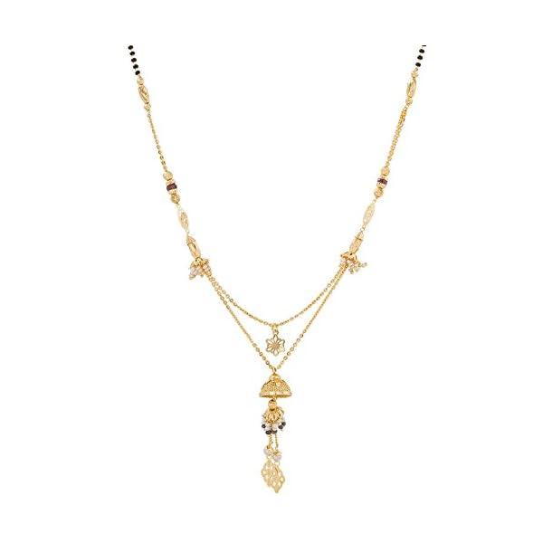 Aadita Fashion Jewellery Multi Strand Heavy Gold Plated Mangalsutra for Women
