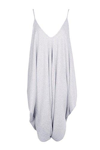 gris Femmes Maddison Combinaison Harem Tricotée Et Surdimensionnée Gris