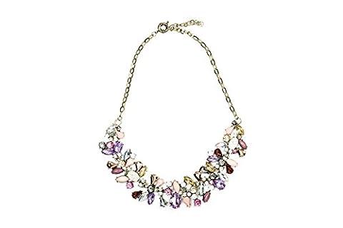 Collier plastron Collier feuillage ornés de pierres précieuses Pendentif Bijoux tendance
