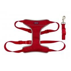 Red dog harness,travel and exercise