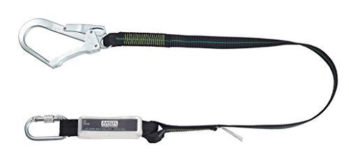 MSA Verbindungsmittel mit Falldämpfer Gurtband 1,5m lang einsträngig Stahl-Twist-Lock Karabiner  Stahl-Gerüsthaken EN 355 -