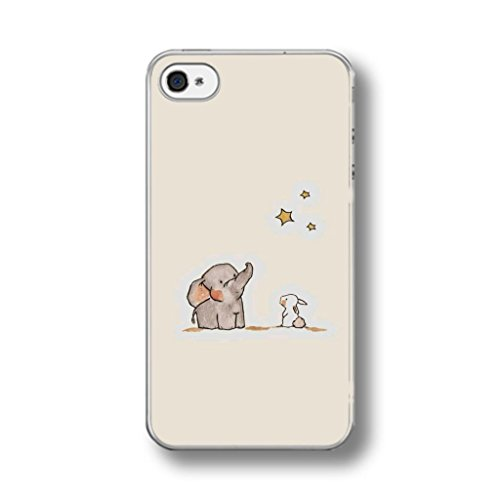 CUTE ELEPHANT & RABBIT RUBBER PHONE CASE COVER for IPHONE 6/6s
