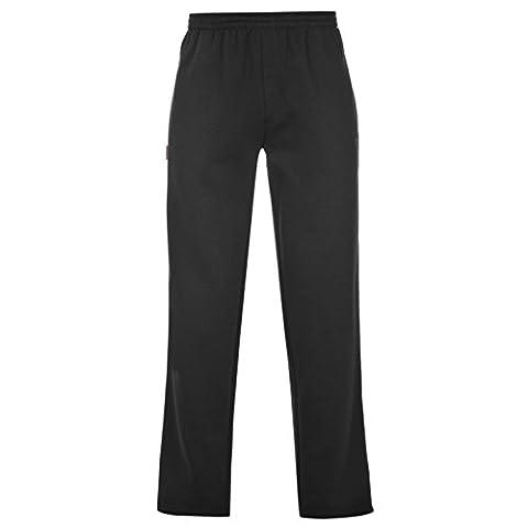 Slazenger Herren Fleece Sweatpants Jogginghose Fitness Trainingshose Sporthose Schwarz Medium