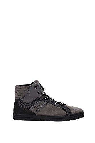HXM1410R283DWH0XD2 Hogan Sneakers Uomo Camoscio Grigio Grigio