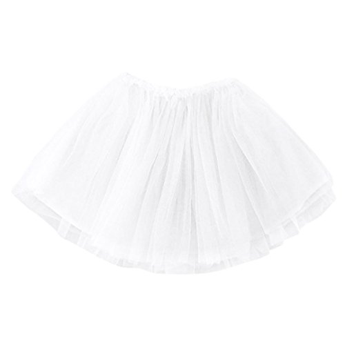 Für Kostüm Kleinkind Pocahontas - OverDose Nettes Säuglings kleinkind Baby Mädchen Feste Kleidungs Tutu-Prinzessin Rock Party Skirt(12 Monate,Weiß)