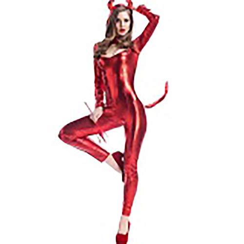 Kostüm Lack Pet - Fdhd Lackleder Katze Mädchen Pole Dance Bühne Kostüm Roten Teufel Kostüm Katze Kostüm Anzug Sexy Anzug