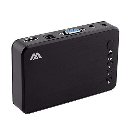 QUARKJK Full HD 1080P Auto Media Player HDMI, AV-Ausgang, 3D HDTV USB SD-Kartenleser mit Autoadapter AV-Kabel - Box Hdtv Hd Media