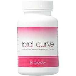 Total Curve zur Brustvergrößerung - 60 Tabletten |Für mehr Brustvolumen | Natürliche Bruststraffung |Brustvergrößerung ohne Op | Natürliches Ergänzungsmittel | Wirksame Schönheitspflege