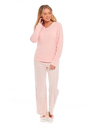 en Pyjama mit flauschigen Einhorn Hausschuhe Womens PJs Pyjama Unterseiten Set - perfekte Einhorn Geschenke Dieses Jahr-begrenzte Verfügbarkeit auf Lager! (XL 20-22, Pfirsichhase) (Hausschuhe Für Mädchen Auf Verkauf)