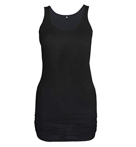 Natural Born Yogi Damen Yoga Tank-Shirt Wonderful Words, Schwarz, S - Bambus Ärmellose Bluse
