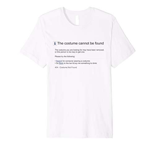 Funny 404Fehler Kostüm nicht gefunden Halloween Shirt