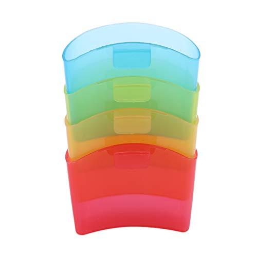 Yinew Teebeutel Halter Racks Regenbogenfarbe Kaffeetasse Cookie Kekse Stand Clips -