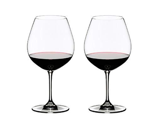 RIEDEL 6416/07 Vinum Pinot Noir (Burgundy Red), 2-teiliges Rotweinglas Set, Kristallglas Drinkware Wein