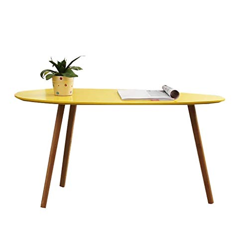 Lszdp-negozio Lettino da Salotto Portatile Tavolino Nordic Salotto Tavolino Combinato Piedistallo in Legno massello da Lettura Piccolo Tavolo da Cucina Tavolino Lungo, Forma Goccia d'Acqua Mobili per