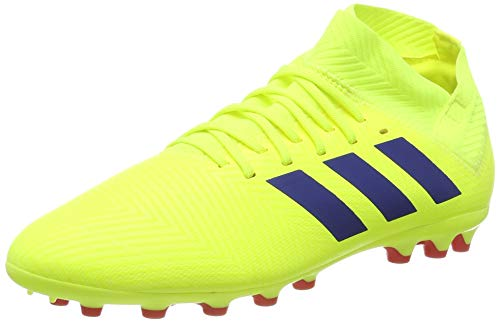adidas Nemeziz 18.3 AG J, Zapatillas de Fútbol para Bebés, Amarillo Solar Yellow/Football Blue/Active Red, 38 2/3 EU