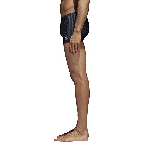 adidas Herren Allover Print 3-Streifen Boxer Badehose Black/Carbon