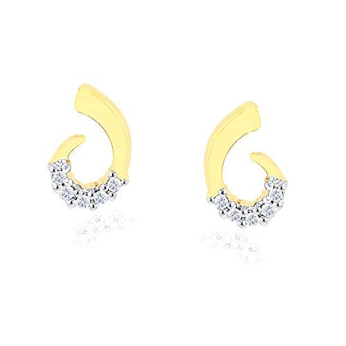 Giantti 14carats Diamant pour femme Boucles d'oreille à tige (0.05CT, VS/Si-clarity, Gh-colour)