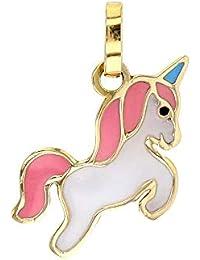 Jouailla – Colgante Unicornio en oro 375/1000 ...