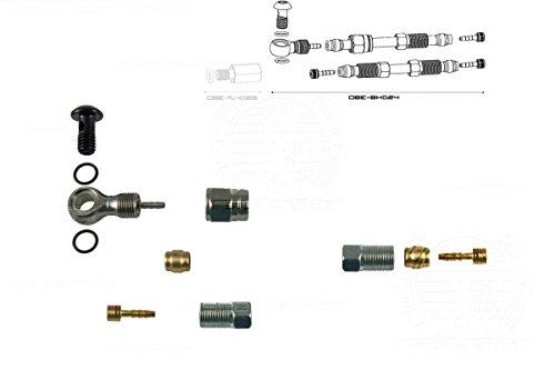 DiscoBrakes Armaturen für 1 Magura Hydraulische Bremsschlauch-Montage, Banjo-Adapter Marta Louise