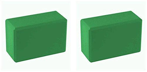 BodyRip Vert 2x blocs de yoga en mousse
