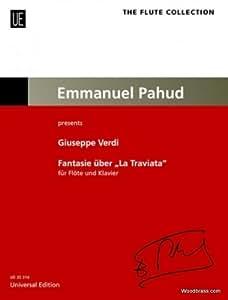 Partitions classique UNIVERSAL EDITION VERDI G. - FANTAISIE SUR LA TRAVIATA - FLUTE & PIANO Flûte traversière