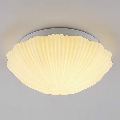 Moderne LED Deckenleuchte Shell Form Led Deckenleuchte Glasschirme Oberfl auml chenmontage Deckenleuchte Lehnte Wohnzimmer Schlafzimmer Arbeitszimmer Kinderzimmer Energiesparlampe Deckenleuchte -