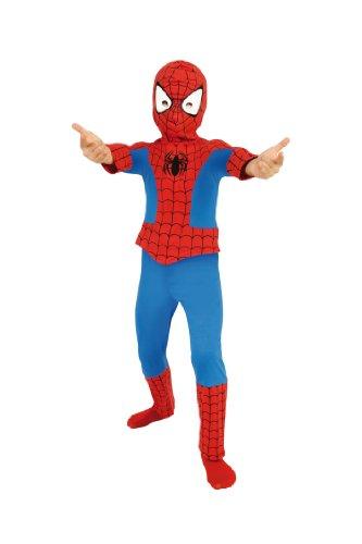 Cesar A317-003 - Spider Man Classic 2-teilig Größe 128 (Größeninformation auf Verpackung: 8/10 years, T 3, 128 or 132 (Marvel Kostüme Helden Spiderman)