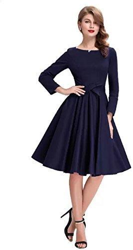 Diego Women's Skater Dress (D83 kiya Blue-s)