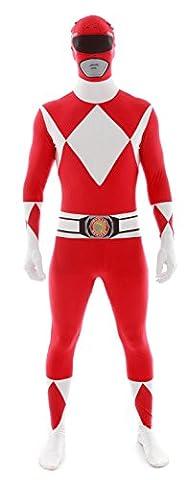 Morphsuit Power Rangers - Déguisement combinaison rouge Power Rangersadulte Morphsuits L