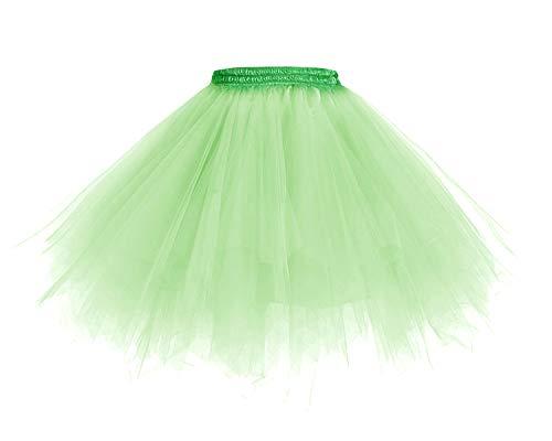 Homrain 1950 Petticoat Tutu Unterrock Underskirt für Rockabilly Kleid Mint M