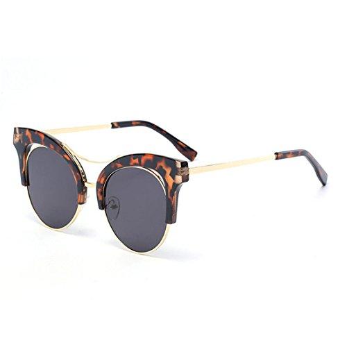 GUO Die Sonnenbrille Sonnenbrille aus Metall Kunststoff farbigen Film, B