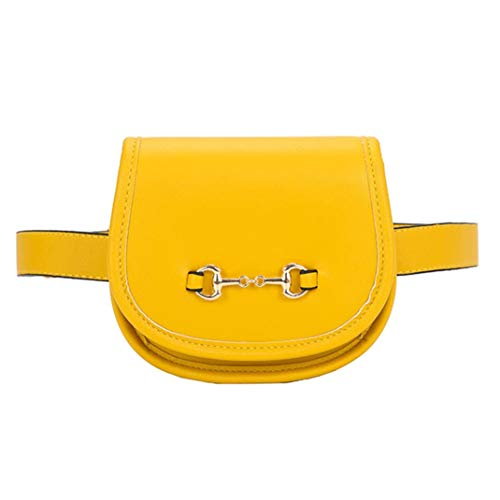 Felicove Damen Gürteltasche, Mode Leder Reine Farbe Taschen Flip Cover Outdoor Brusttasche Schultertasche