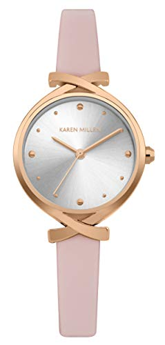 Karen Millen Unisex-Adult Analogue Classic Quartz Watch with Leather Strap KM173WRG