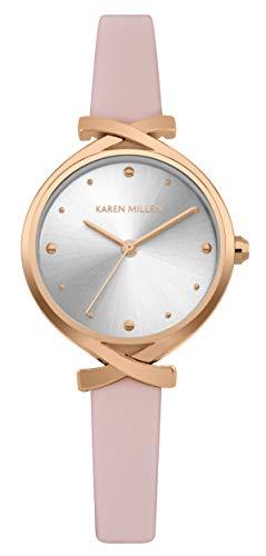 Karen Millen Reloj Analógico para Unisex Adultos de Cuarzo con Correa en Cuero KM173WRG