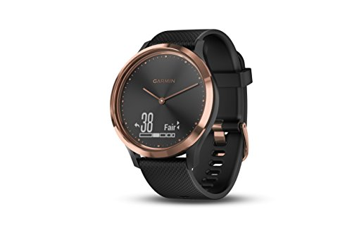 Garmin Vivomove HR Sport - Color Negro/Oro Rosa