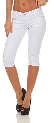 OSAB-Fashion 310760 Damen Caprihose Slimline Capri Hose Sommer Pants Slim-Fit Übergrößen