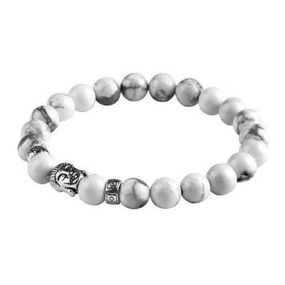 hwiionne Stein Leopard Lava Stein Steine Armband für Männer Kristall Heil Armband 8 mm