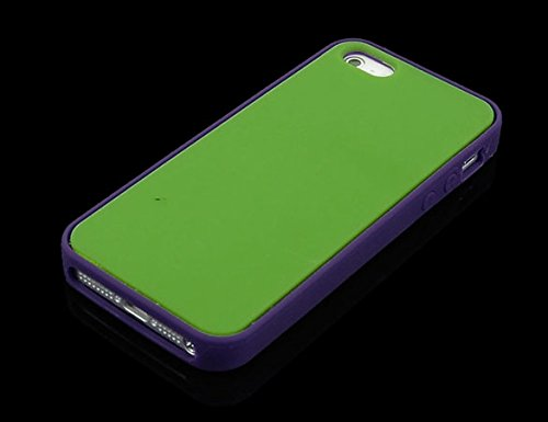 iPhone SE Case - All4you 2 Pcs nouveau téléphone cellulaire cas couvrir la peau sac pour iPhone SE / 5 s / 5 + protecteur d'écran + Stylus(Blue) Green