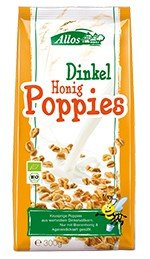 Allos Dinkel-Honig-Poppies, 300 g