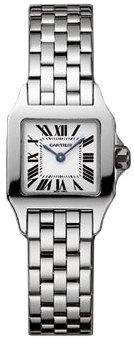 Cartier Santos Demoiselle Ladies Small Steel Watch W25064Z5