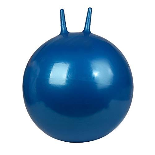 Fenteer 45cm aufblasbarer Hüpfball Springball mit Griff, Kinder Spielzeug für Drinnen und Draußen