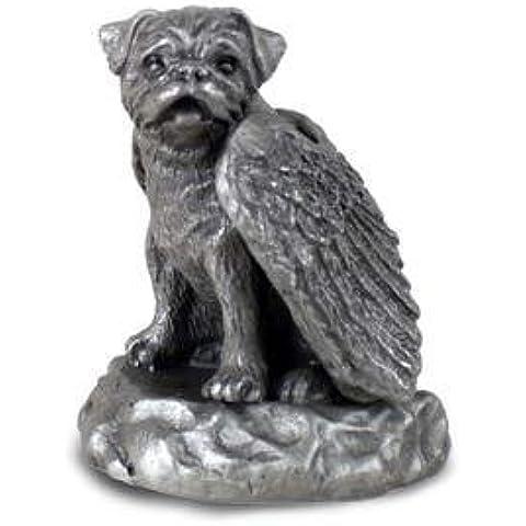 Estaño Perro Estatua Estatuilla figura de ángel