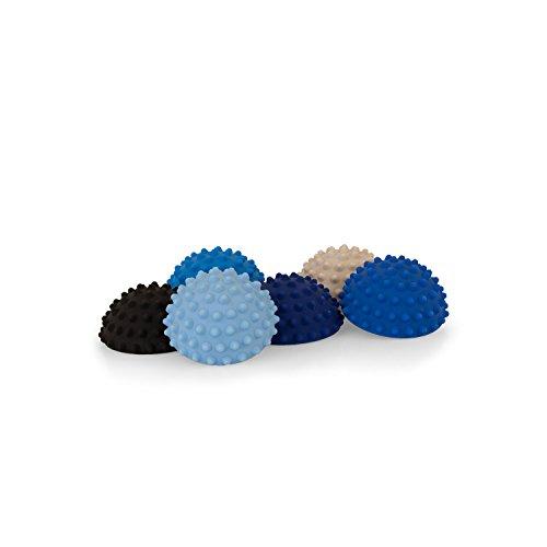 AFH-Webshop 6 x Therapie Balance Igel Mini in Trendigen Blautönen | Durchmesser: 9 cm | Gymnastik Igel | Igelball | Kleiner Balance Igel, Ideal für Kinder (6