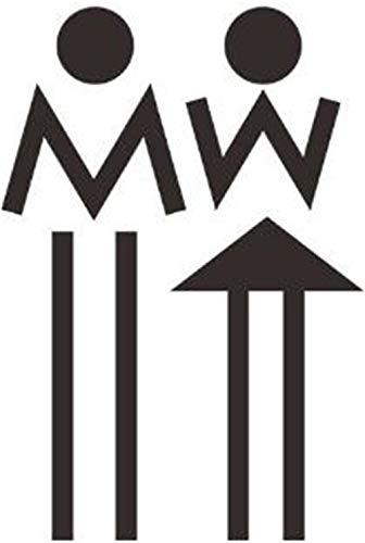 wandaufkleber wandaufkleber und Aufkleber abnehmbare wandaufkleber kinderzimmer Schlafzimmer Wohnzimmer, männliche und weibliche Logo 19 * 13 cm ()