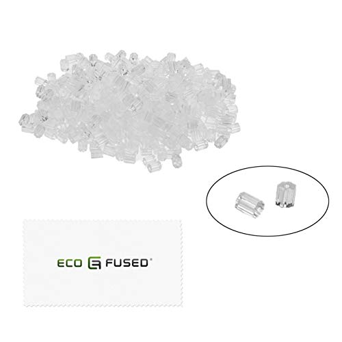 Eco-Fused Ohrhaken - 500 Stück (2,5 x 3 mm) - Ersatz für durchsichtigen Kunststoffstopfen - für Ohrringe mit Angelhaken und DIY-Ohrringe