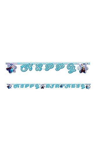 Disney 2m Frozen Happy Birthday Banner in hellblau (Birthday Frozen Happy)