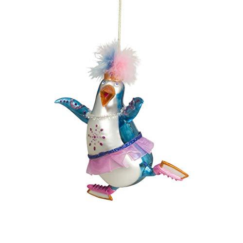 Mea Living Crazy Weihnachtskugel Pinguin mit Schlittschuhen
